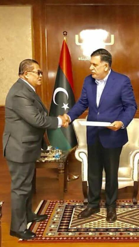 Libyan Prime Minister Fayez Mustafa al Sarraj