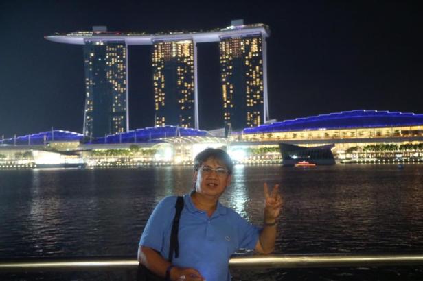Merlion Park at Marina Bay in Singapore