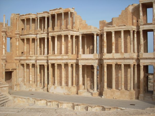 One of the world's best preserved emi-circle Roman Theater in Sabratha, Libya, 2008