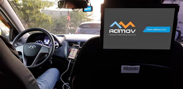 AdMov in car