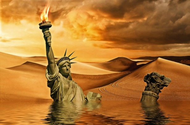 Sinking of Statue of Liberty
