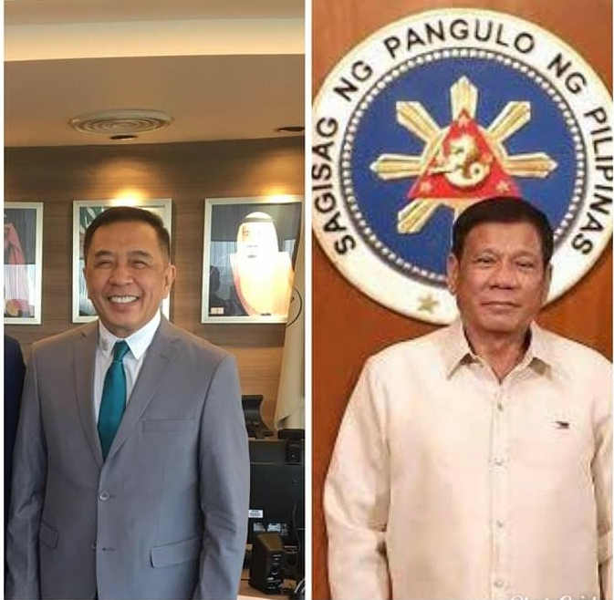 President Duterte and NCMF Secretary/CEO Pangarungan - Science and Digital News